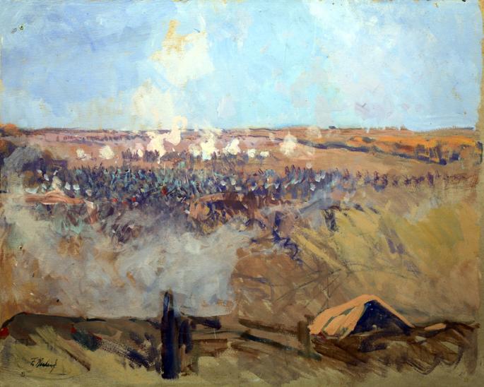 Рубо. Позиции русских войск за деревней Семеновская