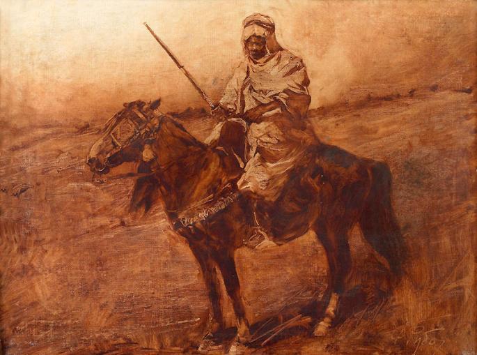 Рубо. Араб на лошади