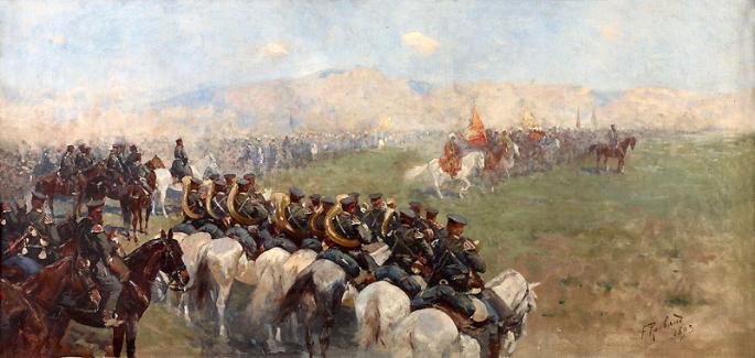 Рубо. Смотр войск Александром III близ Тифлиса