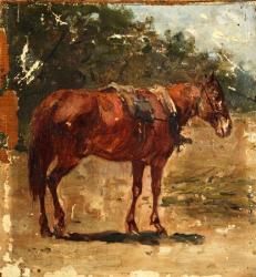 Рубо. Рыжая лошадь