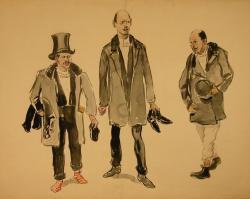 Рубо. Три мужские фигуры