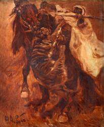 Рубо. Нападение тигра на всадника